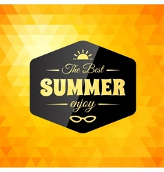 Retro styled summer calligraphic design card vector