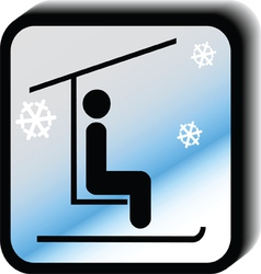 Winter icon lift vector