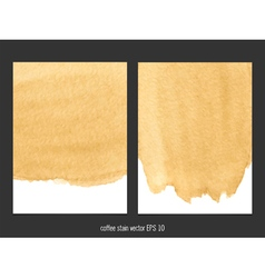 Coffee stain watercolor background vector