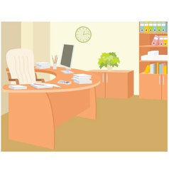 Office furniture vector