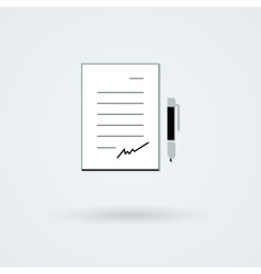 paper with pen icon vector image