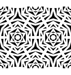Abstract black rose pattern vector