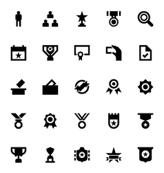 Vote and reward icons 4 vector