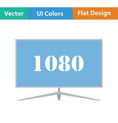 Wide tv icon vector