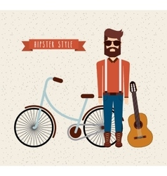 avatar man hipster style isolated icon vector image vector image