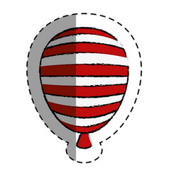 Balloon air with stripes vector