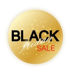 Black friday sale sign template promotional vector