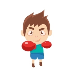 Boy sportsman boxing part of child sports training vector