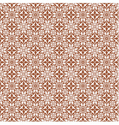 Brown damask decorative pattern backdrop vector