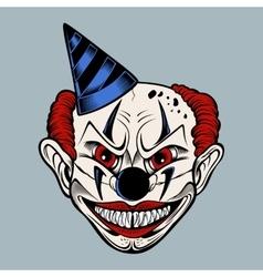 Cartoon scary clown vector