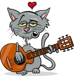 Cat in love cartoon vector