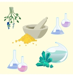 Chemists tools set vector