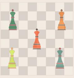 Chess queen collection vector