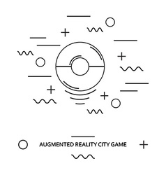city game sign vector image vector image