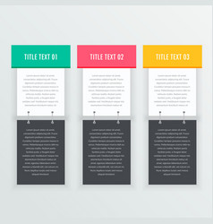 Colorful infographics banners template vector