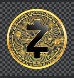 crypto currency zcash golden symbol vector image vector image