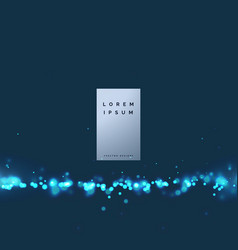 Elegant technology particle background vector