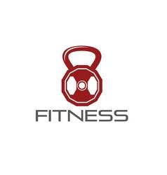 Fitness weight design template vector