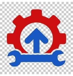 Gear integration tools icon vector