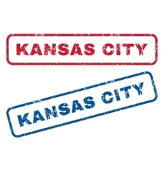 Kansas City Rubber Stamps vector image