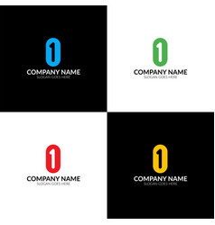 letter 1 and 0 logo icon vector image vector image