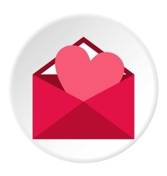 Love letter icon flat style vector image