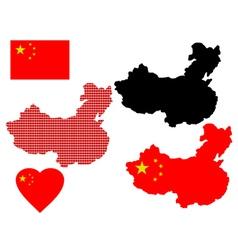map China vector image