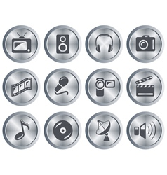 Multimedia buttons vector image
