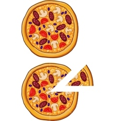 Pizza with different ingredients vector image