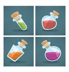 potion bottles vector image