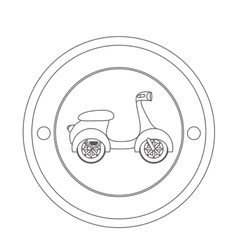 Scooter motorcycle vehicle vector image