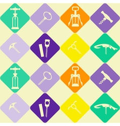 Seamless background with corkscrew vector image