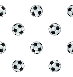Seamless football background vector image vector image