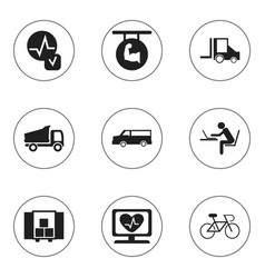 Set of 9 editable mixed icons includes symbols vector