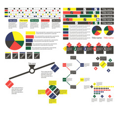 simple multi-colored infographics with different vector image