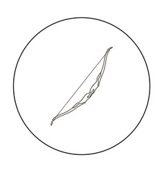 tennis icon outline single sport icon from the vector image vector image