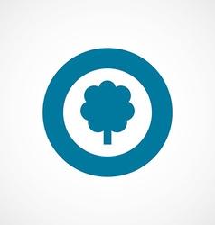 tree bold blue border circle icon vector image