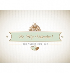Valentines sign vector