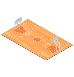 Basketball field isometric view vector