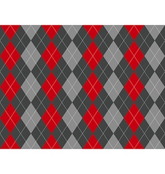 Gray argyle seamless pattern vector