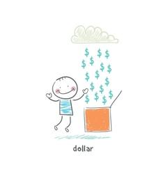 Rain of dollars vector image