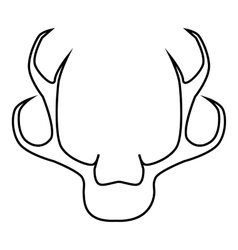 Deer antler icon outline style vector