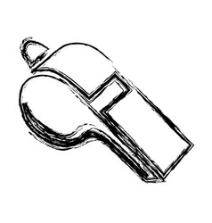 Monochrome sketch of whistle icon vector