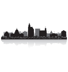Jackson usa city skyline silhouette vector