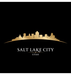 Salt lake city utah skyline silhouette vector