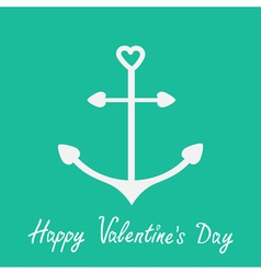 Anchor with shapes of heart happy valentines day vector