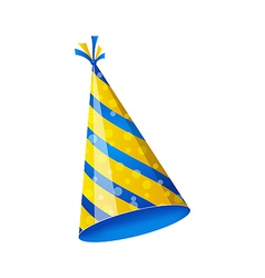 Birthday hat isolated on white background vector