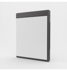 Blank dvd-case or cd-case 3d vector