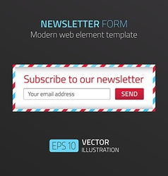 Modern newsletter form template with design of vector