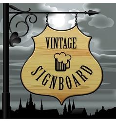 Vintage signboard vector image